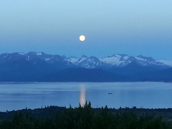 Maria's Majestic View Bed & Breakfast: Here's the view from your room!  Full moon night...
