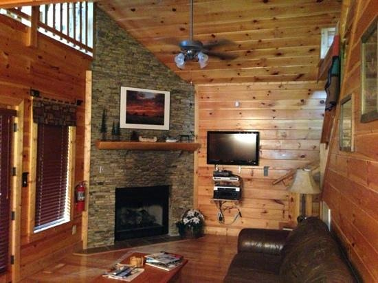 Smoky Cove Chalet and Cabin Rentals: living room