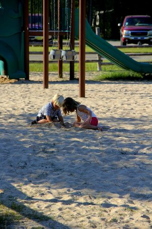 Mackinaw Mill Creek Campground: We have three playgrounds