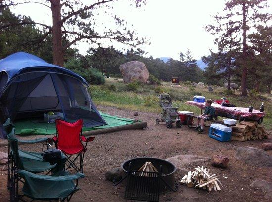 Moraine Park Campground: site D 145