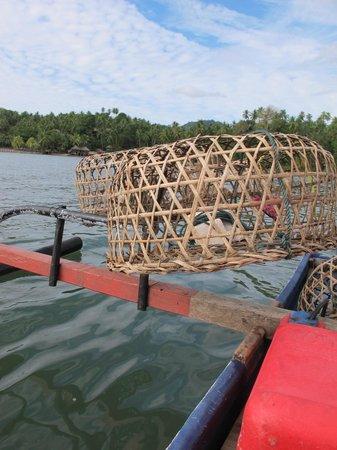 Cocotinos Manado: Traps on the boat