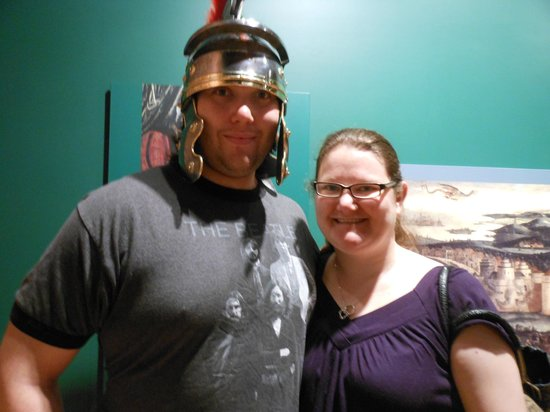 Frazier History Museum : Trying on helmets