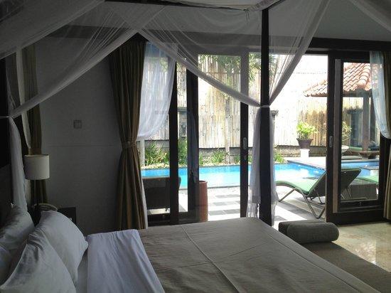 Villa Aamoda Bali: View from Masterbedroom (1st floor)