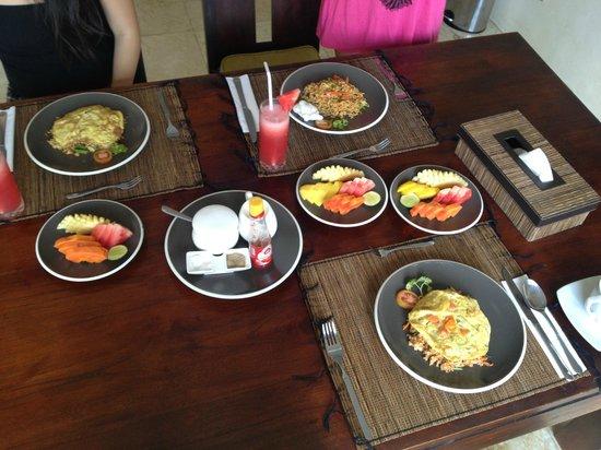 Villa Aamoda Bali: Home cooked breakfast