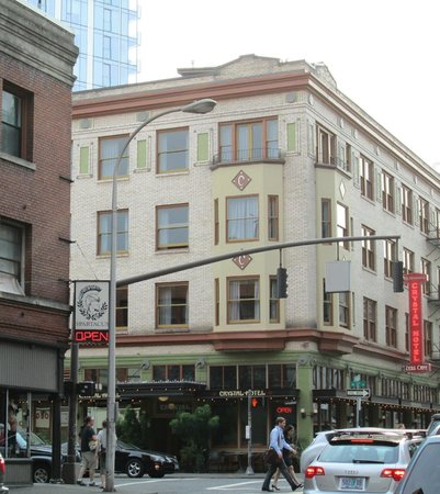 The Crystal Hotel building from outside
