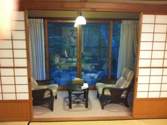 Sasaya Hotel : 庭付きのお部屋