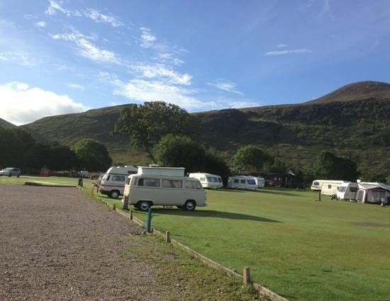 Lochranza Caravan & Camp Site: the site