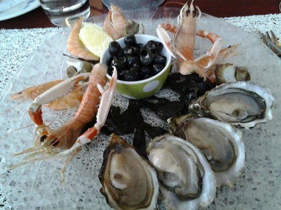 La Verte Ostrea : Assiette de fruits de mer, miam miam