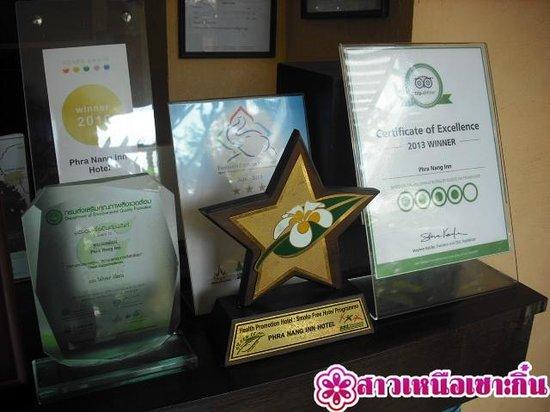Phra Nang Inn: รางวัลที่โรงแรมได้รับ