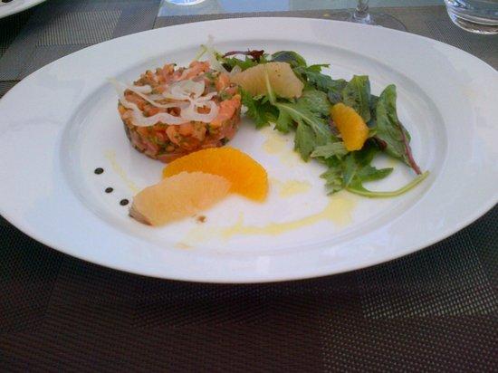 La Pergola : Tartare de saumon