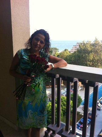 Melia Grand Hermitage : На балконе в День Рождения