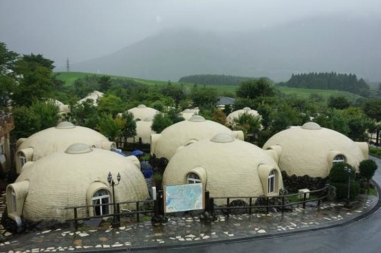 Aso Farm Land: ドーム型のコテージ