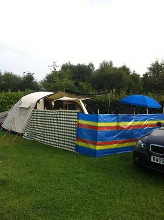 Packhorse Farm Camp Site: large pitches plenty of room