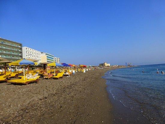 Ibiscus Hotel: beach area