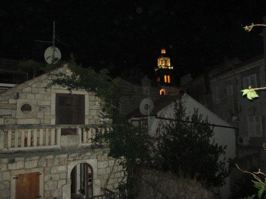 Apartments Nina: View from Nina terrace at night