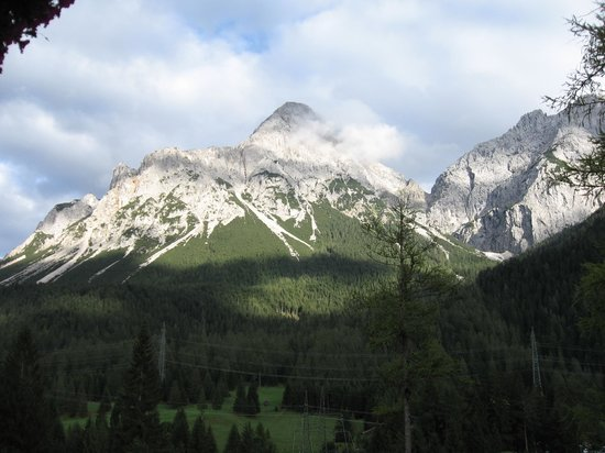 Alpspitz Pension: the view from our room