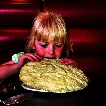 Shimla Spice Restaurant: My daughter enjoying Shimla Spice