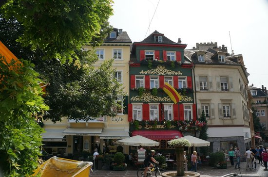Hotel Alte Laterne: view from the Lowenbrau opposite (loveley restaurant)
