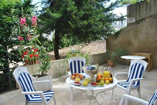 Chambres d'Hôtes Le Tilleul : Terrasse