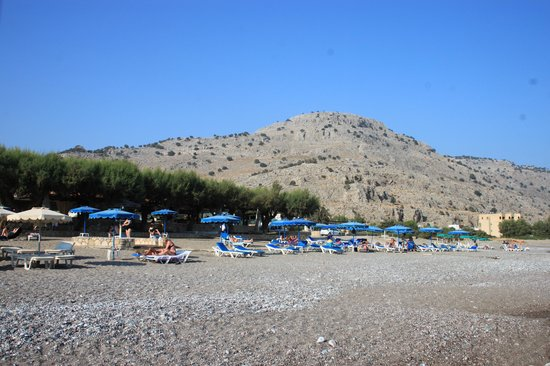 Elvita : Bild på stranden mot baren