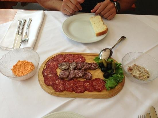 Dopolavoro: smoked deer and wild boar sausage platter