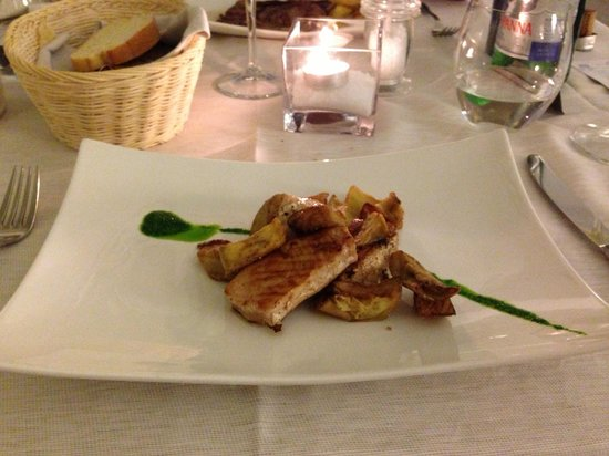 Hotel Gabbiano Azzurro : Dinner at the restaurant