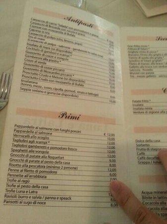 LUNA E LALTRA : menù