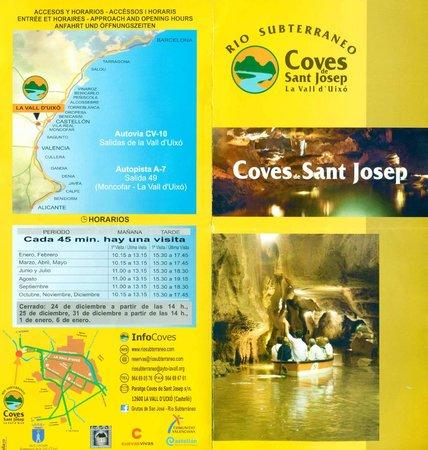 Coves de Sant Josep: Folleto 01