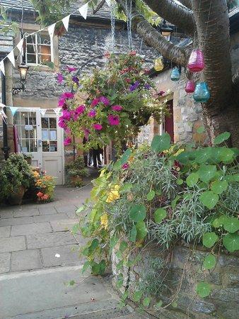 Naughty & Nice Cafe Bistro Ice Cream Parlour Chocolatier: The lovely courtyard garden