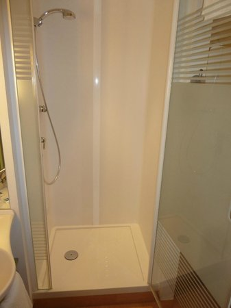 ibis budget Bern Expo: shower, as part of single room