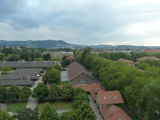 ibis budget Bern Expo: view from room window. see main spiral under repair (middle right)