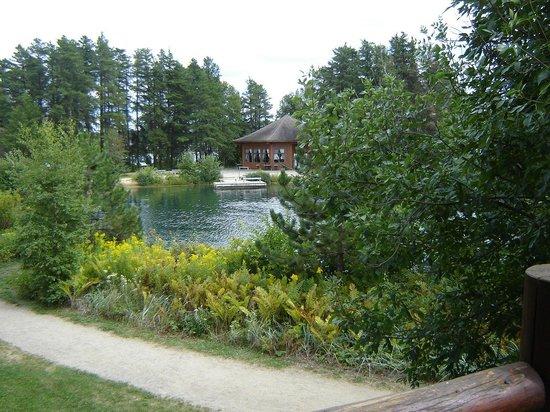 Auberge Du Lac Taureau: Vue sur l'étang