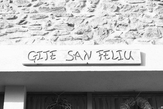 Gite San Feliu : Entrée du gîte