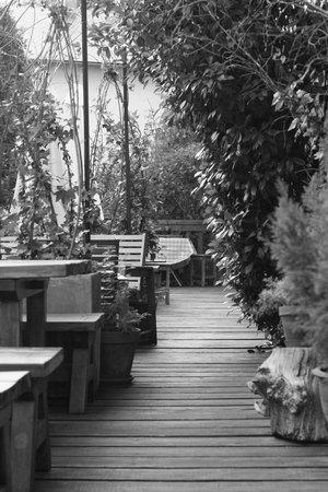 Gite San Feliu : Terrasse