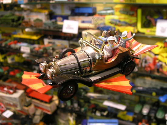 House on the Hill Toy Museum: a flying Chitty chitty bang bang