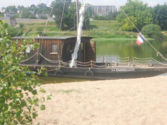 Observatoire de Loire: La PIERREGARIN en arrêt sur l'ile aux castors