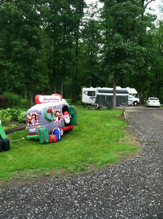 Country Acres Campground: Fun Christmas in July decorations