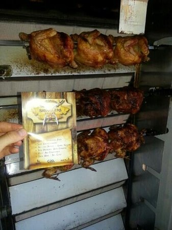 Smugglers: lovely home cooked spit roast chicken