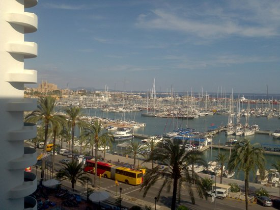 Hotel Palma Bellver Managed By Melia: The marina from our fifth floor balcony