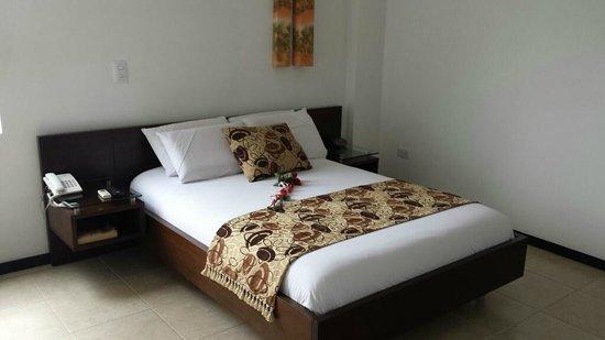 Hotel Plaza Granada: nice comfy bed