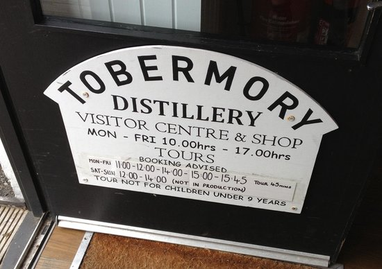 Tobermory Distillery : Tour/Opening Times