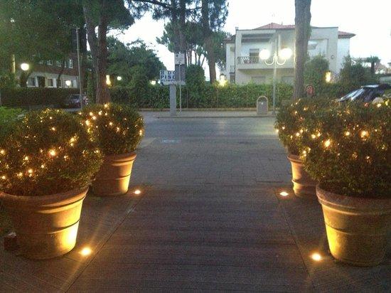 Hotel Saraceno: L'ingresso by night