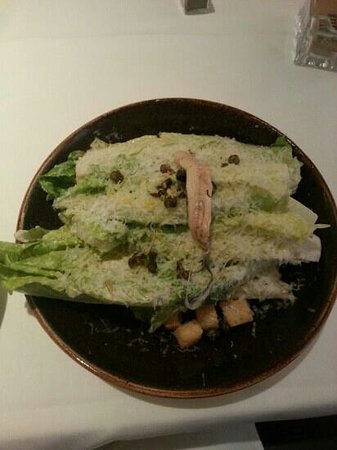 Root 246: Ceasar salad with grared lemon peel that makes it so light