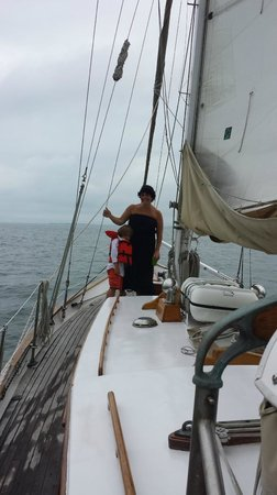 Witch of Endor Sailing Charters: at sea