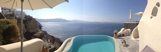 Infinity pool at Pezoules Hotel