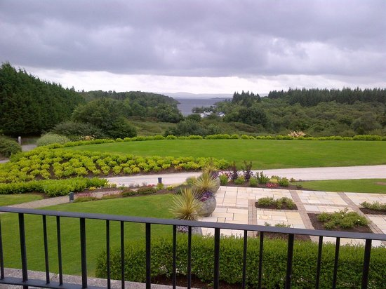 The Lodge at Ashford Castle: View from Balcony Door