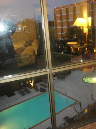 Crowne Plaza Austin: The pool as we see it through the window