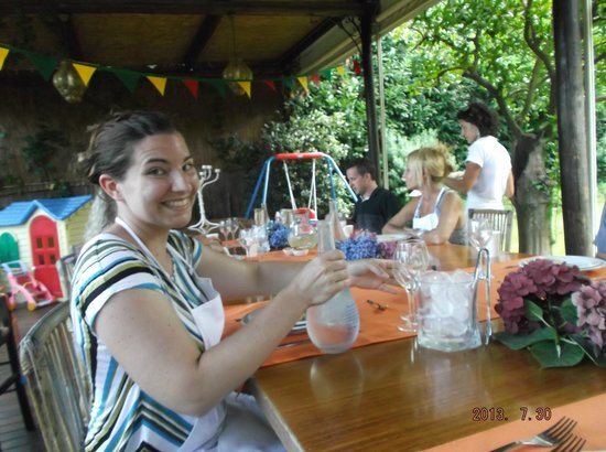 Villa Ida Cooking Lessons: Time to enjoyed all that we made