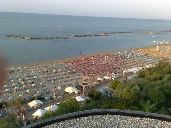 Hotel Residence Villa Mare: Panorama dal terrazzo all'ultimo piano