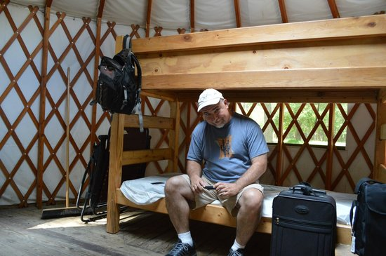 Woodbine, Nueva Jersey: yurt interior